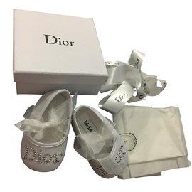 Baby Dior-Ballerines enfant-Blanc
