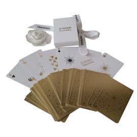 Chanel-card game-Golden