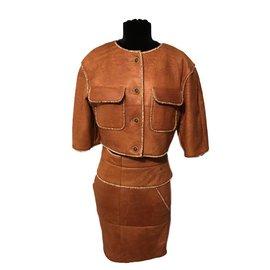 Chanel-Skirt suit-Caramel