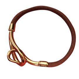 Hermès-Bracelet jumbo plaqué or-Argenté