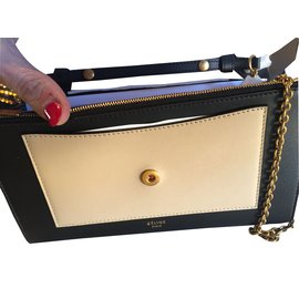 Céline-Wallet with chain-Blue