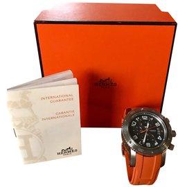 Hermès-Montres automatiques-Orange,Gris