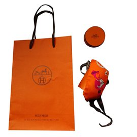 "Hermès-TWILLY "" TOUT EN CARRE""-Orange"