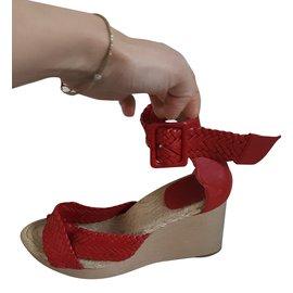 Hermès-Escarpins-Rouge