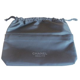 Chanel-Makeup Bag-Black