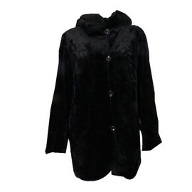 Rebecca-Shaved mink coat-Brown,Black