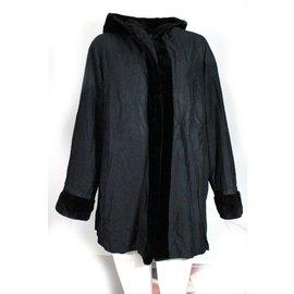 Rebecca-Shaved mink coat-Brown,Black