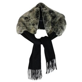 N. Peal-Fur cashmere stole-Other