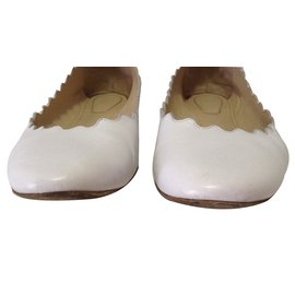Chloé-Ballet flats-White