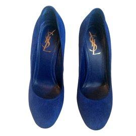 Yves Saint Laurent-Escarpin-Bleu