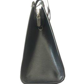 Louis Vuitton-Sac en cuir épi-Noir