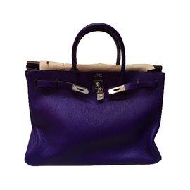 Hermès-Birkin 40-Violet