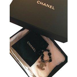 Chanel-Bracelet-Noir,gris anthracite