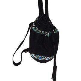 Antik Batik-Tasche-Schwarz