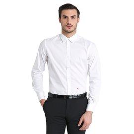 Moschino-Moschino Poplin shirt with white embroidered heart-White