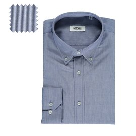 Moschino-Moschino Button down shirt blue white striped-Multiple colors