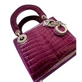 Dior-Mini Lady Dior-Violet
