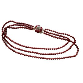 Valentino-Long necklace-Dark red