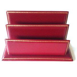 Lancel-desk set-Dark red