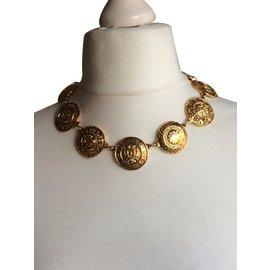 Chanel-Vintage collier ras de cou-Doré