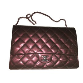 Chanel-Timeless clutch-Dark red