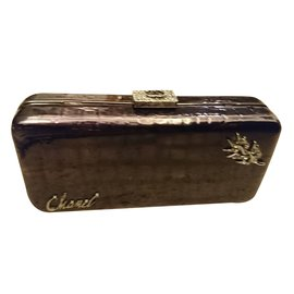 Chanel-Bar Clutch-Violet