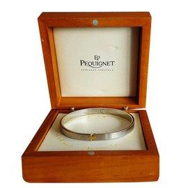 Autre Marque-Bracelet rigide or et acier 'Pequignet'-Argenté
