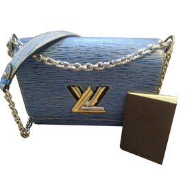 Louis Vuitton-Twist epi denim défilé-Bleu