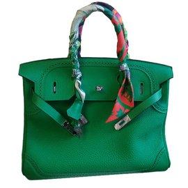 Hermès-birkin ghillies 35 bambou-Vert