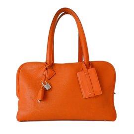 Hermès-SAC HERMES VICTORIA 2-Orange