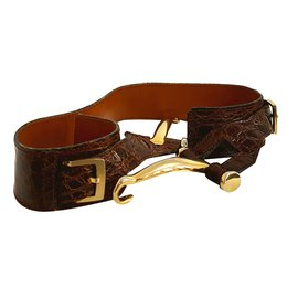 Lancel-Ceinture-Marron