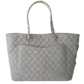 Chanel-SAC CHANEL SHOPPING CAMBON TWEED-Multicolore