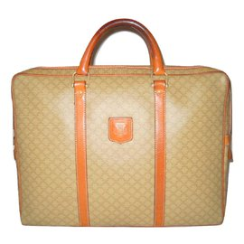Céline-CELINE vintage sac porte document-Beige