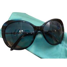Tiffany & Co-Lunettes-Noir,Métallisé