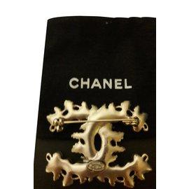 Chanel-Broche-Argenté