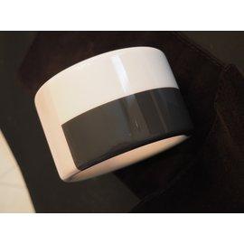 Hermès-Beau bracelet Hermes en bois laqué-Blanc