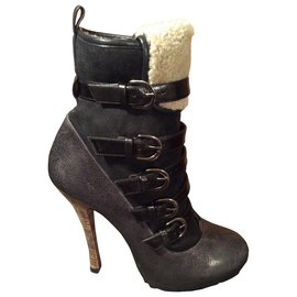Barbara Bui-biker boots-Noir