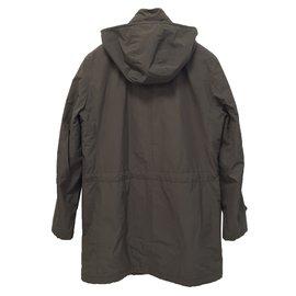 Salvatore Ferragamo-Fur outerwear-Khaki