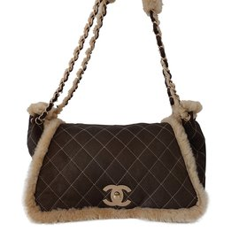Chanel-SAC CHANEL GRAND MODELE-Marron