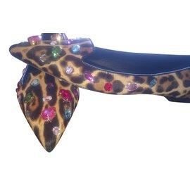 Dolce & Gabbana-Ballerines-Imprimé léopard