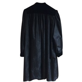 Yves Saint Laurent-Manteau YSL Variation-Noir