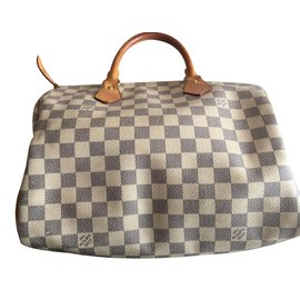 Louis Vuitton-Sac à main speedy en toile-Beige