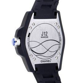 Chanel-CHANEL J12 MARINE MEN'S 42mm WRISTWATCH-Noir