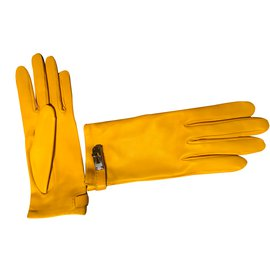 Hermès-Gloves-Yellow