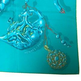 Hermès-Reve de corail-Bleu,Vert,Jaune