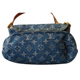 Louis Vuitton-Pleaty denim-Bleu