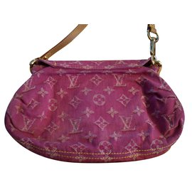 Louis Vuitton-PLEATY DENIM COLLECTOR-Rose