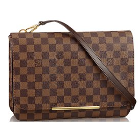 Louis Vuitton-Hoxton GM Crosbodybag-Marron