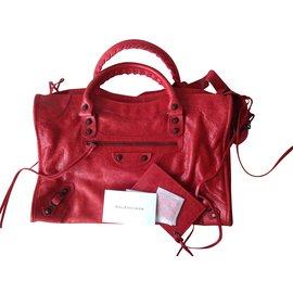 Balenciaga-Sacs à main-Rouge