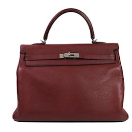 Hermès-Kelly 35-Dark red